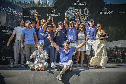 Team Gstaad Palace is victorious in the Hublot Polo Gold Cup Gstaad Final 2013 largeL