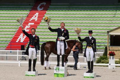 test event 2014- podium Grand prix dressage largeL