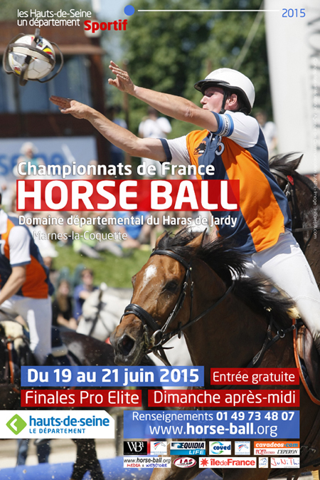 affiche horse ball jardy