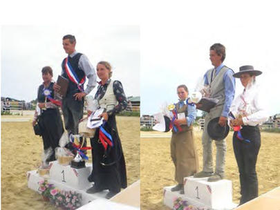 equitation de travail championnat france 2014- Podium Amateur 1 ©Marie Moya Podium Amateur Elite largeL