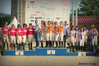 Horse ball 2015- Le podium Pro Elite Féminin largeL