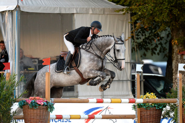José-Marie Allarcon et Toscane du Ha, champion de France Amateurs Elite majors