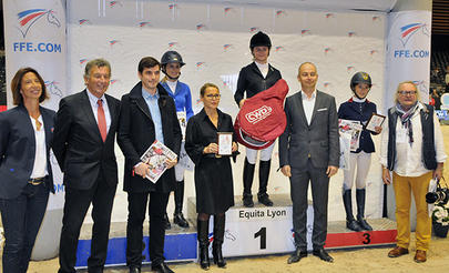 Lyon 2015- Gold Tour - Le podium de la finale de l'Amateur Gold Tour 2015 largeL