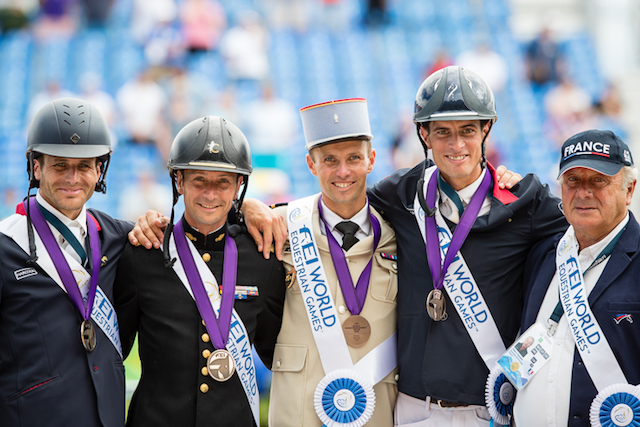 Podium equipe de France complet Tryon 2018