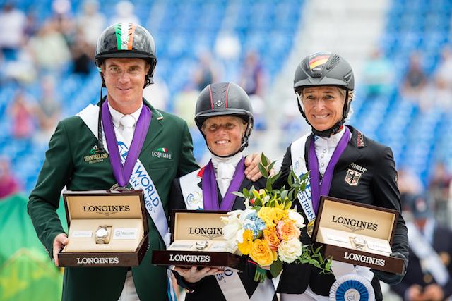 Podium individuel concours complet Tryon 2018