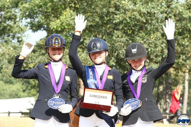 Podium juniors dressage Europe 2018