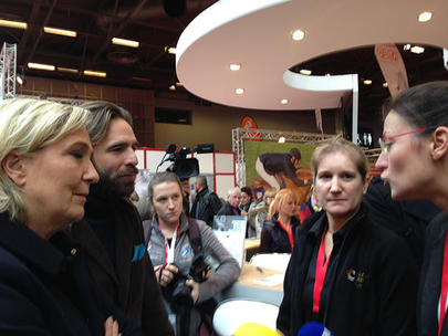 salon 2016 Marine Le Pen largeL