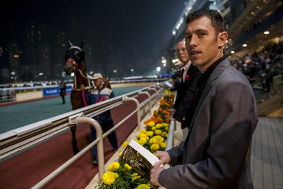 Scott Brash a assisté aux courses à l'hippodrome Hong-Kong Happy Valley. largeL