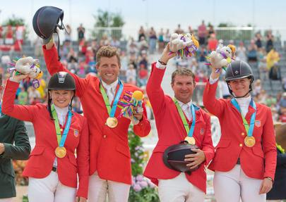 toronto 2015 Marylin Little, Boyd Martin, Phillip Dutton et Lauren Kieffer largeL